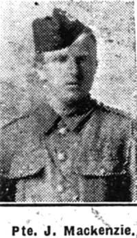 Mackenzie John, Pte, Mellon Charles