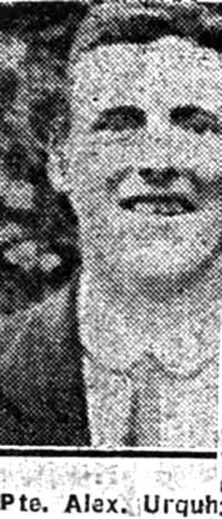 Urquhart Alexander, Pte, Muir Of Ord
