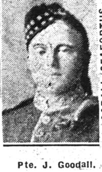 Goodall James, Pte, Muir Of Ord
