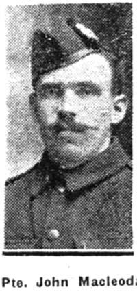 Macleod John, Pte, Muir Of Ord
