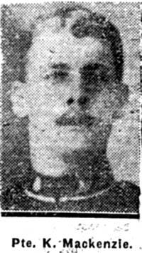 Mackenzie Kenneth, Pte, Muir Of Ord