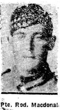 Macdonald Roderick, Pte, Munlochy