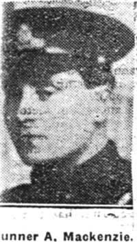Mackenzie Alexander, Gunner, Nigg
