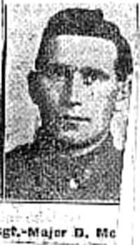 MacAndie David, Sgt Major, Portmahomack