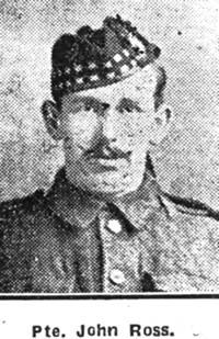 Ross John, Pte, Saltburn
