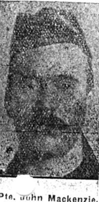 Mackenzie John, Pte, Scorraig