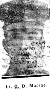 Macrae George D, 2 Lieut, Strathpeffer
