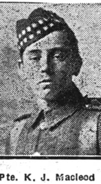 Macleod Kenneth John, Pte, Strathpeffer