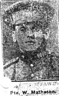 Matheson William, Pte, Canada Ex Strathpeffer