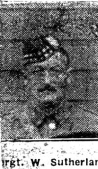 Sutherland Willliam, Sgt, Strathpeffer