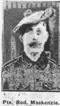 Mackenzie Roderick, Pte, North Stome