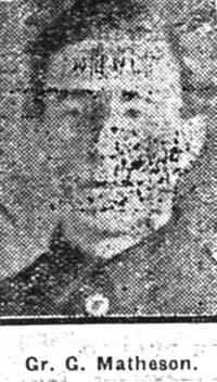 Matheson George, Gunner, Tain