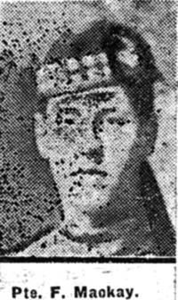 Mackay Frederick, Pte, Tain