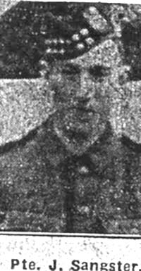 Sangster James, Pte, Tain