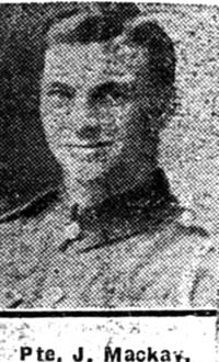 Mackay John, Pte, Tain