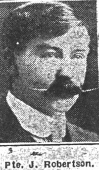 Robertson John, Pte, Tain