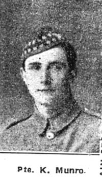 Munro Kenneth, Pte, Tain