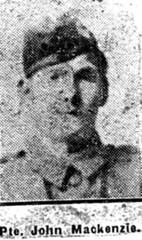 Mackenzie John, Pte, Torridon