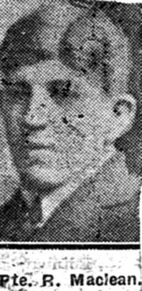 Maclean Roderick, Pte, Ullapool