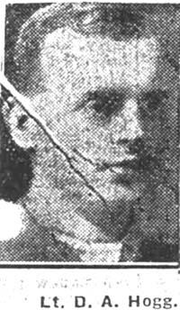 Hogg David A, 2 Lieut, Elgin Highland Light Infantry