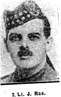 Rae James, 2nd Lieut, Castle Douglas Seaforths