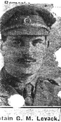 Levack George M, Capt Dr, Edinburgh Royal Army medical Corp