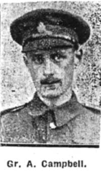 Campbell Alexander, Gunner, Royal Gun Artillery Ex Seaforths