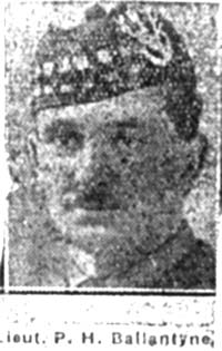 Ballantyne Philip Hugh, Lieut, Huddersfield Seaforths