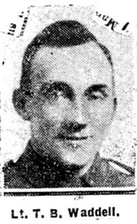 Waddell Thomas Bryson, Lieut, Aryshire Seaforths