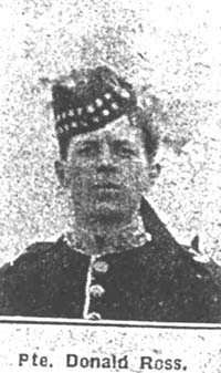 Ross Donald, Pte, Tomatin Seaforths