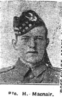 Macnair H, Pte, Glasgow Scots Guards Ex Seaforths