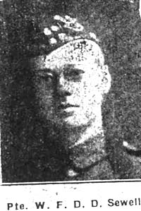 Sewell William Fane Dalziel Dalrymple, Pte, London Seaforths