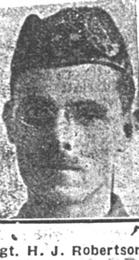 Robertson H J, Sgt, Essex Seaforths