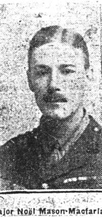 Mason-Macfarlane Noel, Major, Edinburgh