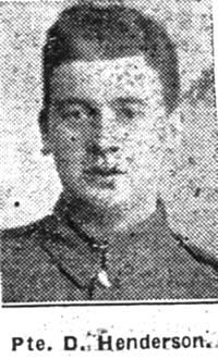 Henderson Daniel, Pte, Glasgow Highland Light Infantry