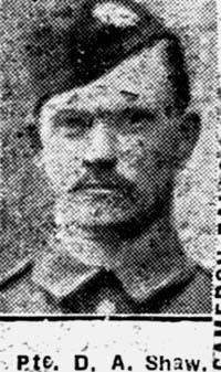 Shaw Donald Angus, Pte, Skye Camerons