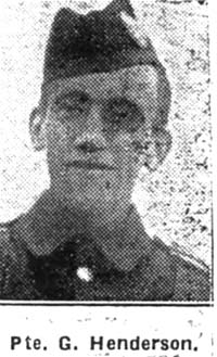 Henderson George, Pte, Glasgow Camerons