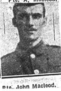 Macleod John, Pte, Ardgay