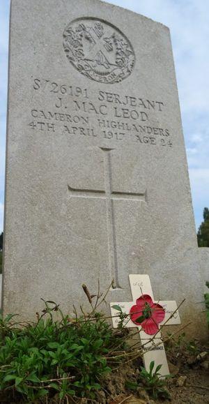 S/26181 Sergeant J Macleod, Opinan