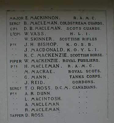 Avoch War Memorial