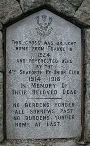 Cambrai War Memorial Plaque No. 1