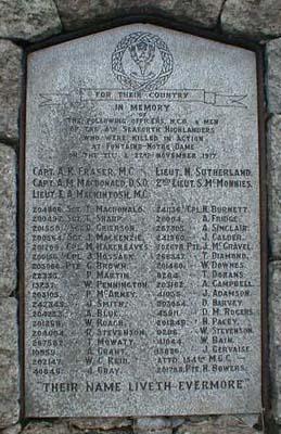 Cambrai War Memorial Plaque No 3