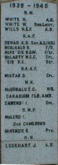 Dingwall Civic War Memorial Plaque