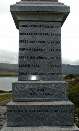 Dundonnell War Memorial