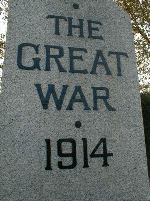 Edderton War Memorial - The Great War 1914