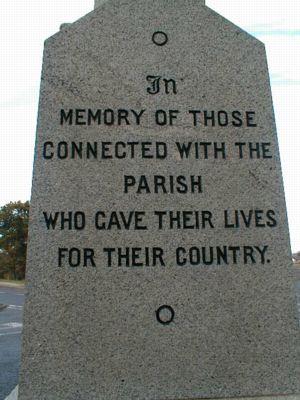 Edderton War Memorial - In Memory