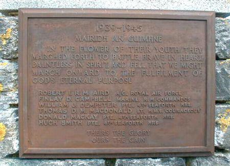 Fodderty War Memorial
