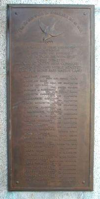 Fodderty War Memorial - Within the left gateway.