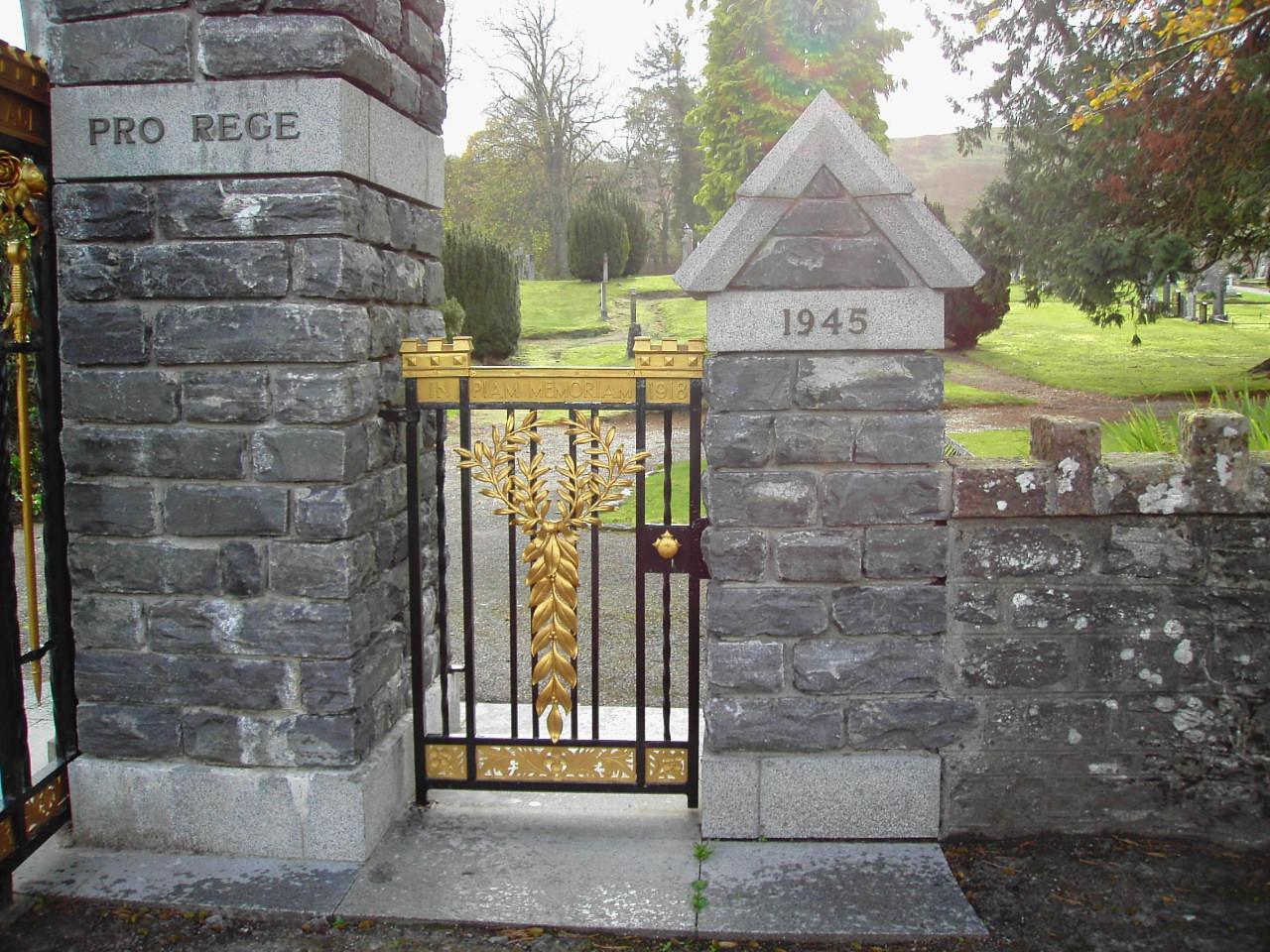 Fodderty War Memorial - following refurbishment