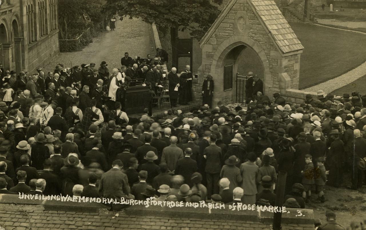 Unveiling of Fortrose War Memorial